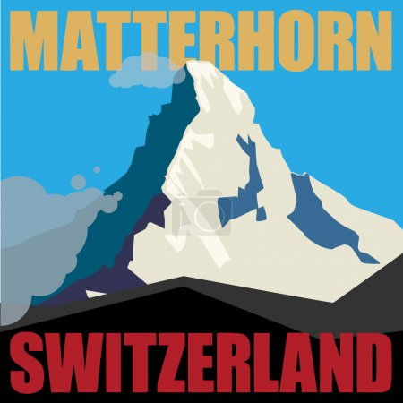 Mount Matterhorn adventure background