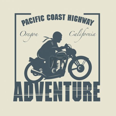 Vintage Motorcycle adventure label