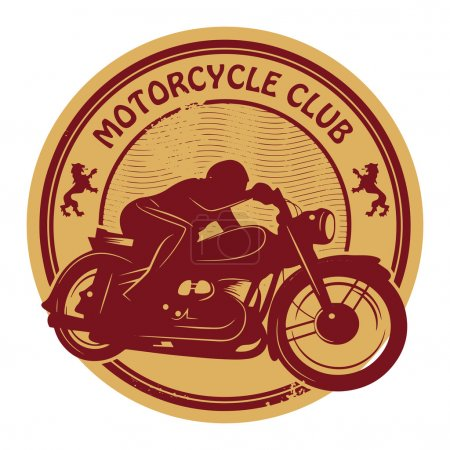 Oldtimer-Motorrad-Label