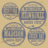 stamp of Wisconsin cities