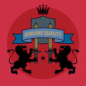 Retro heraldic emblem or label