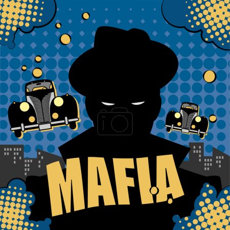 Abstract mafia or gangster background