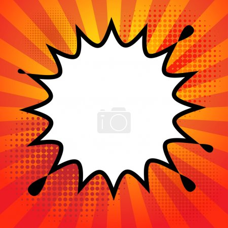 Illustration for Comic book explosion abstract, vector illustration - Royalty Free Image