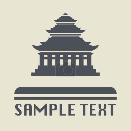 icône de la pagode asiatique ou signe