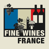 Stamp or label with words Fine Wines France
