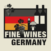 Stamp or label with words Fine Wines Germany