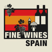 Stamp or label with words Fine Wines Spain