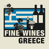 Stamp or label with words Fine Wines Greece