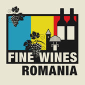 Stamp or label with words Fine Wines Romania