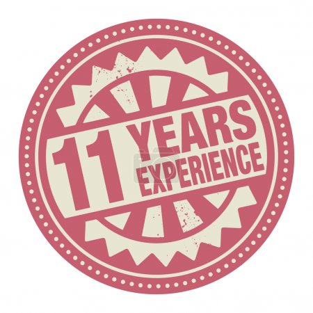 Abstract stamp or label with the text 11 years experience writte