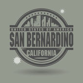 Stamp or label with text San Bernardino California inside