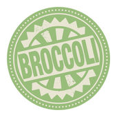 Abstract stamp or label with the text Broccoli written inside
