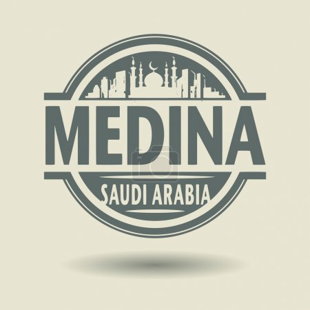 Stamp or label with text Medina, Saudi Arabia inside