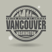 Stamp or label with text Vancouver Washington inside