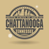 Stamp or label with text Chattanooga Tennessee inside