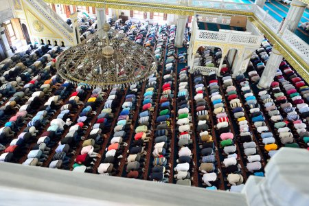 Muslims during Friday prayers in congregation in bulk