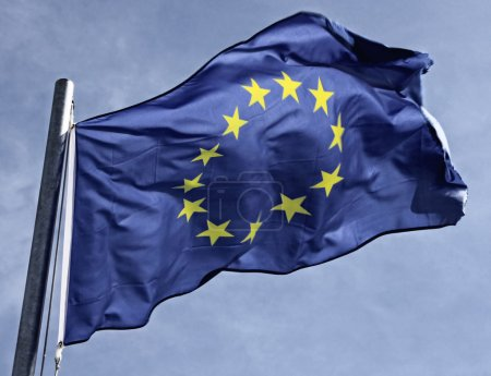 Photo for Flag of the european community in the sun - Royalty Free Image