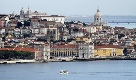 View of Alfama and Graca, Lisbon - Portugal