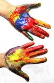 """Постер, картина, фотообои """"Яркие цветные руки"""""""