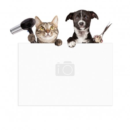 Dog and Cat Grooming Blank Sign