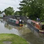 Stratford upon avon canal lapworth flight of locks...