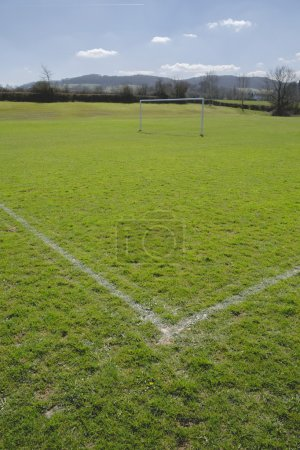 Corner of football playing fields