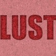 Red hot lust in glitter background...