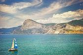 A boat in the Bay of Sudak