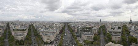 Paris panorama from bird view