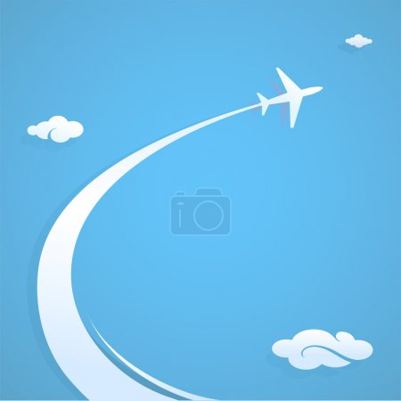 Illustration for Plane trail graphic design illustration with copy space - Royalty Free Image