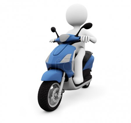 Photo for Render of a man in a scooter - Royalty Free Image