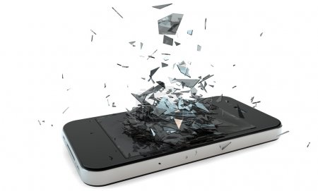 Photo for Render of a broken smart phone - Royalty Free Image