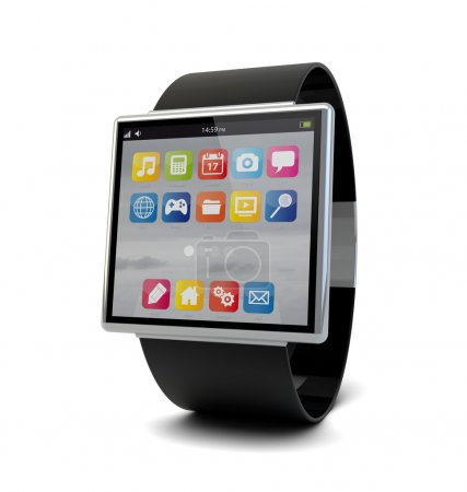 Photo for Render of a conceptual smart watch - Royalty Free Image