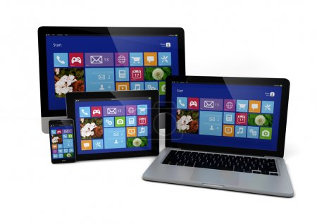 Photo for Render of a devices with modern interfaces - Royalty Free Image