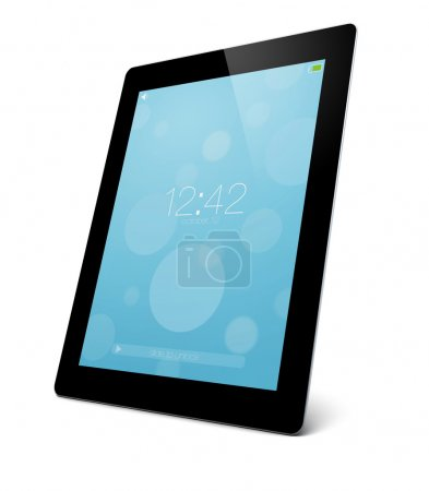 Photo for Render of a locked tablet pc - Royalty Free Image