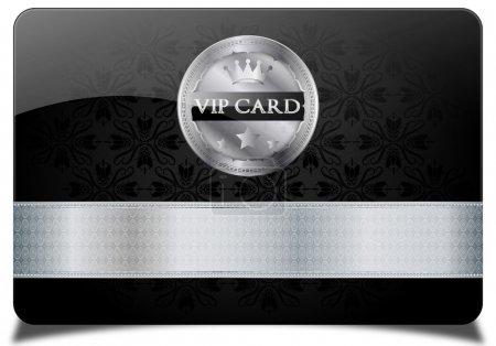 Black vip card and metallic label...