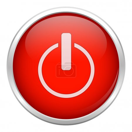 Illustration pour Icône étroite rouge - image libre de droit