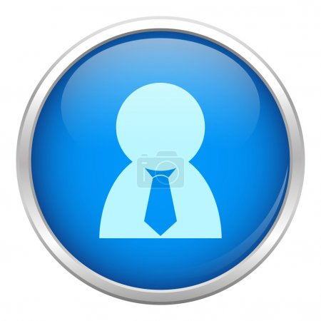 Blue business man icon