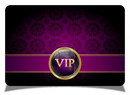 Abstract vip card