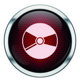 Red honeycomb music cd icon