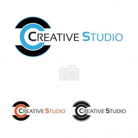 Illustration pour Modèle de logo studio créatif - image libre de droit