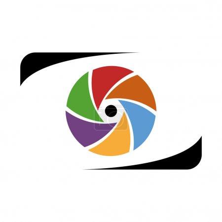 Ilustración de Trabajo de fotógrafo Abstracto logotipo - Imagen libre de derechos