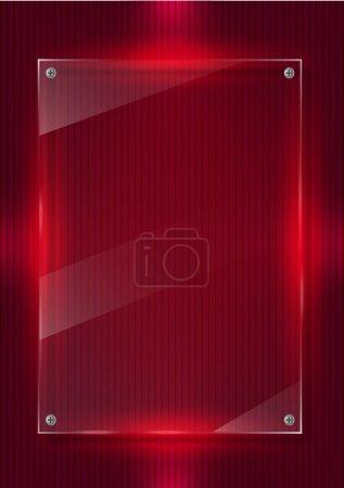Illustration pour Fond numérique et panneaux de verre - image libre de droit