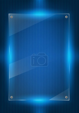 Digital background and glass panels
