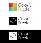 Colorful puzzle logo
