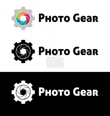 Photo gear logo template