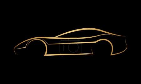 Golden abstract car logo
