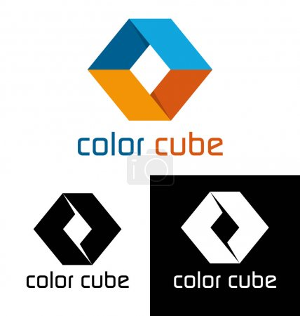 Illustration for Color cube logo template - Royalty Free Image