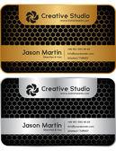 Golden - silver honeycomb business card