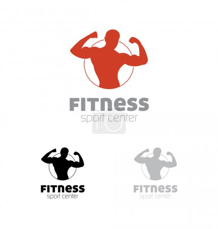 Fitness sport center logo